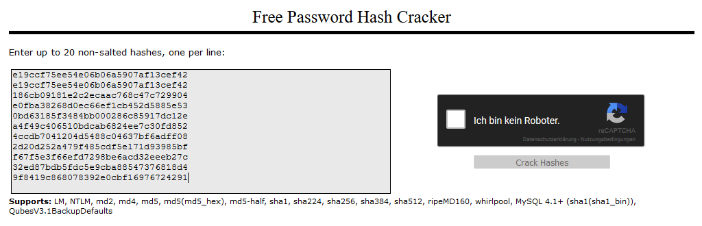 Password Hashes – Cybercop-Training